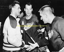 GORDIE HOWE Shakes Hands w/MAURICE RICHARD 8x10 Photo DETROIT vs MONTREAL HOF~@@