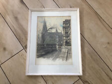 Robert Kasimir Signed Etching Aquatint On Paper Cologne Cathedral C 1935