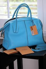 TOD'S D-STYLING  BAULETTO PICCOLO SATCHEL BAG / BLUE
