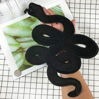 Large Snake Embroidery Patch Clothes Black DIY Sticker Fashion Biker Punk Patch