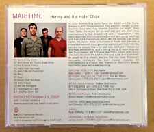 Maritime - Near Mint CD - Heresy And The Hotel Choir - Promo Only - Promise Ring