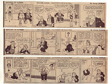 Bringing Up Father by McManus - 24 large 5 column comic strips - October 1947