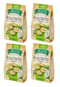 4 x BRUSCHETTE MARETTI Sour Cream & Onion Oven Baked Bread Bites Snacks 70g