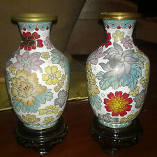 "Antiquariato/Porcellana/Ceramica""VASI MADE IN CHINA""Dipinto A Mano/Anni 50/Pz.2"