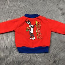 Vintage Bugs Bunny Looney Tunes Red Blue Baby Sweater
