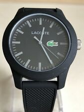 Lacoste Men's 12.12 Black Strap Water Resistant Analogue Watch