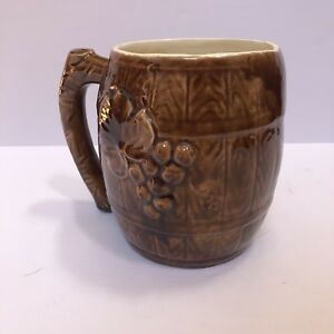 """Rare Ro Rum Barrel Floral Tiki Giant Mug 6.5"""" Tall in excellent condition"""