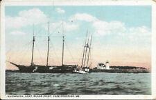 Old postcard - Shipwreck , Goat Island Point, Cape Porpoise, Me