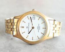 Meister Anker 36mm Datum Quarz 50m weiß Dial Golden Watch Armband