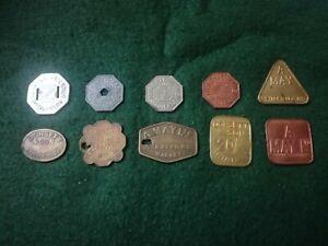 10 - Various Antique Tokens From Spitalfields & Stratford Markets.