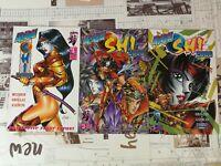 Manga Shi 2000 #1,2,3 NM 1997 :  Crusade Comics first printing *HOT comics*
