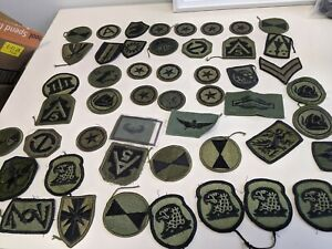 Huge Lot of 51 US Military Army Shoulder Unit Patches