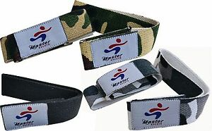 A Pack of 3 x Weight Lifting Straps Wrist Support Weight lifting Wrist Straps