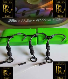 3 Ready Tied Ronnie Rigs (Spinner Rig) Korda Masterclass -  Pre Tied Carp Rigs