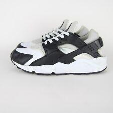 Vintage Mens Nike Air Huarache Trainers 2002 UK 8 305957 102 Leather Black Grey