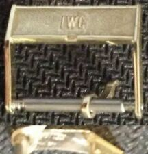 Original IWC Buckle Fibbia 15mm inner From 1970 Yellow Gold Plated L@@K ! !