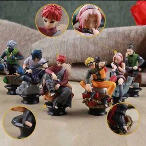 Anime Naruto Shippuden 6pcs lot Mini Collectible PVC Figure No Box