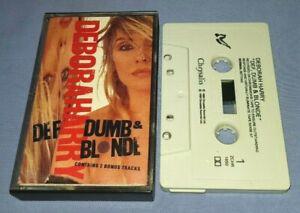 DEBORAH HARRY DEF DUMB & BLONDE cassette tape album A0358