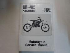 2007 2008 Kawasaki KX125 KX250 Motorcycle Service Repair Shop Manual Brand New