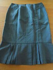 Ladies Veronika Maine Pinstripe Blue Grey Work Office Business Skirt Sz 6