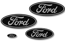 Front,Rear,Steering Wheel Decals Sticker Oval Overlay For Ford Ranger GREY