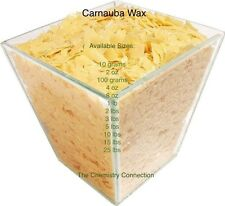 Carnauba Wax Flake 8oz to 25 lb sizes PURE ORGANIC CARNAUBA + FREE SHIPPING