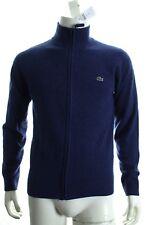 BNWT Lacoste AH2999 Uomo a cascata zip completa maglione pura lana d'agnello Maglione Rrp £ 140