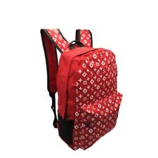FASHION CASUAL BACKPACK LAPTOP BAG POLYESTER RED BAG NEW