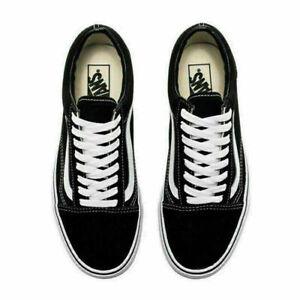 Neu Herren DamenVans Old Skool Schwarz Weiß Sneaker Herren Skate Schuhe Sneaker