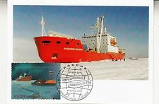 Russia 2007 International Polar Year Maxi Card Polar ship with stamp FDC