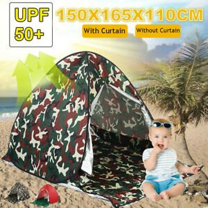 Portable Sun Shelter Tent Anti UV 2-3 Person Waterproof Large Space Campin