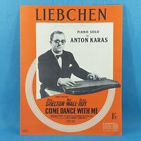 Liebchen - Anne Shelton Come Dance With Me - Original Vintage Sheet Music 1950