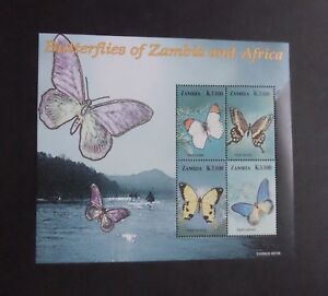 Zambia 2005 Butterflies Moths MS MS962 MNH UM unmounted mint