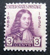 Sc # 724 ~ 3 cent William Penn Issue, MNH, OG (ch20)