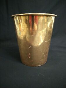 Vintage Croscill Home Fashions Saxony Gold Waste Basket Preowned made India