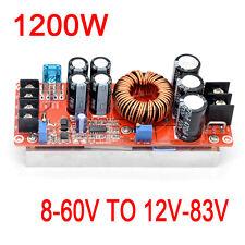1200W 15A DC-DC 8-60V TO 12-83V 12V 24V 19V Boost Converter Step-up power module