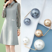 New Pearl Brooch Women Lapel Anti-Glare Safety Brooch Jewellery