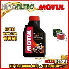 KIT TAGLIANDO 4LT OLIO MOTUL 7100 10W60 TRIUMPH 900 Thunderbolt 900CC 1996- + FI