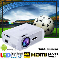4K WiFi Android 7.0 Home Theater Projector 7000LM 1080P HDMI/USB/AV Bluetooth DH