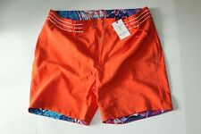 Robert Graham Swim Suit Trunks Board Shorts Trilobal Orange 38 Waist $188