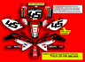 2013 2014 2015 2016 2017 HONDA CRF 125 F GRAPHICS KIT FACTORY : RED / BLACK KIT
