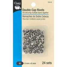New listing Dritz Double-Cap Rivets 8mm Cap X 6mm Post 24/pkg Nickel 072879294224