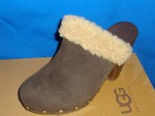 UGG Australia Brown ADELE Oiled Suede Clogs Mules Size US 7, EU 38 NEW #1006024