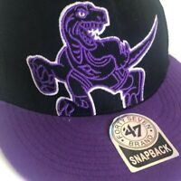 Toronto Raptors Hat, 47 Brand Snapback Cap, Black & Purple, NBA One Size Vintage