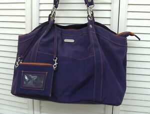 GUC Baggallini  Extra Large Travel Shoulder Bag  Tote Purse Purple