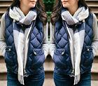 Womens Slim Fleece Warm Vest Hoodie Coat Sleeveless Jacket Hooded Vest Waistcoat