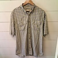 *DULUTH TRADING CO* Men's Large Tall Button Down Plaid Shirt