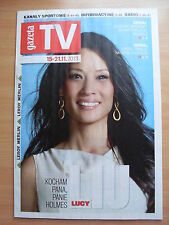 LUCY LIU  on front cover Polish Magazine GAZETA TV