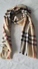 New Woman Fashion Scarf Burberry Col. Beige Cashmere Made in Scotland