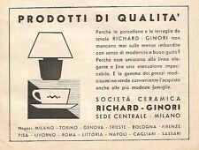 W9783 Società Ceramiche RICHARD-GINORI - Pubblicità del 1935 - Old advertising